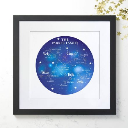 Personalised Family Tree Constellation Art